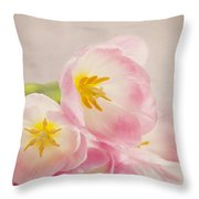 Inner Beauty - Pink Tulips Throw Pillow