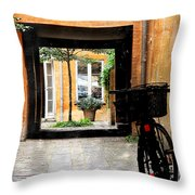 Inner Courtyard Throw Pillow