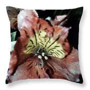 Inner Floral Beauty Throw Pillow