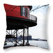 Inner Harbor Lighthouse - Baltimore Throw Pillow