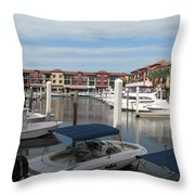 Inner Harbor - Naples Throw Pillow