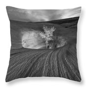 Inner Light Bw Throw Pillow
