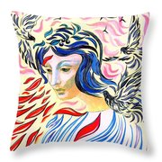 Inner Peace Throw Pillow by Jane Small