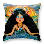 Inner Peace Throw Pillow by Karin Taylor