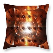 Inner Strength - Abstract Art Throw Pillow by Carol Groenen
