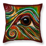 Inner Strength Spirit Eye Throw Pillow