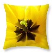 Inner Tulip Macro Throw Pillow