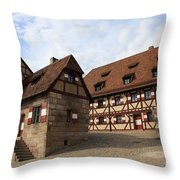 Inneryard Kaiserburg - Nuremberg Throw Pillow