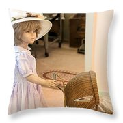 Innocence Throw Pillow by Gunter Nezhoda