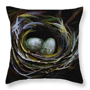Innocent Throw Pillow by Vickie Warner