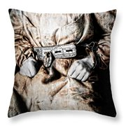 Insane Person In Restraints Throw Pillow by Daniel Hagerman