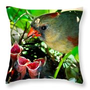 Insect For Diner Agaain Throw Pillow
