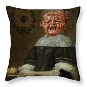 Insectophobia Throw Pillow
