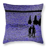 Inseparable Friends Throw Pillow