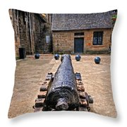 Inside A French Fort Throw Pillow