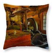 Inside A Grist Mill Throw Pillow