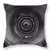 Inside A Jet Engine Black And White Throw Pillow