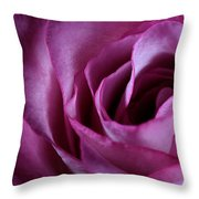 Inside A Rose Throw Pillow
