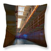 Inside Alcatraz Throw Pillow