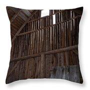 Inside An Old Barn Throw Pillow