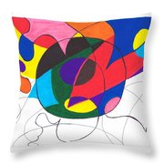 Inside And Outside The Circle Throw Pillow