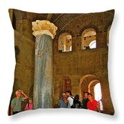 Inside Church Of Saint Nicholas In Myra-turkey Throw Pillow