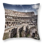 Inside Colosseum Throw Pillow