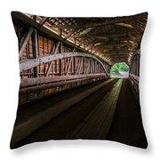 Inside Covered Bridge Throw Pillow