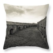 Inside Fort Macomb Throw Pillow