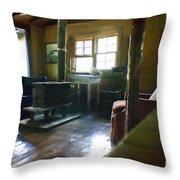 Inside Heaven In Oil Throw Pillow