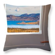 Inside High-speed Train Throw Pillow
