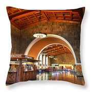 Inside Los Angeles Union Station Throw Pillow