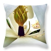 Inside Magnolia Throw Pillow