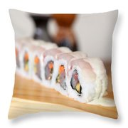 Inside Out Tuna Sushi Throw Pillow