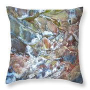 Inside Painted Cave In Lava Beds National Monument-california Throw Pillow
