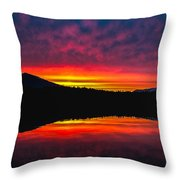Inside Passage Sunrise Throw Pillow