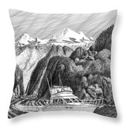 Cruising The Inside Passage Throw Pillow