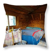 Inside Savage River Cabin In Denali Np-ak   Throw Pillow