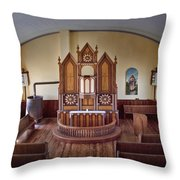 Inside St Olaf Lutheran Church Throw Pillow