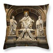 Inside St Peters Basiclica - Vatican Rome Throw Pillow