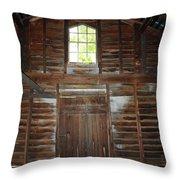 Inside The Barn Throw Pillow