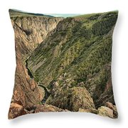 Inside The Black Canyon Throw Pillow