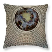 Inside The Capitol Dome Throw Pillow