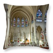Inside The Cathedral Basilica Of The Immaculate Conception 1 Throw Pillow