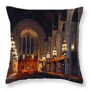 Inside The Cathedral Throw Pillow