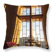 Inside The Chapel Of The Holy Cross Throw Pillow