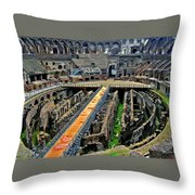 Inside The Colosseum I I Throw Pillow