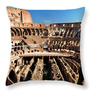 Inside The Colosseum Throw Pillow