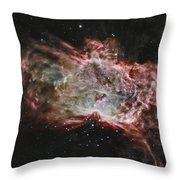 Inside The Flame Nebula Throw Pillow
