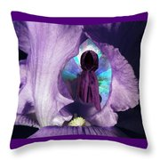 Inside The Iris Throw Pillow